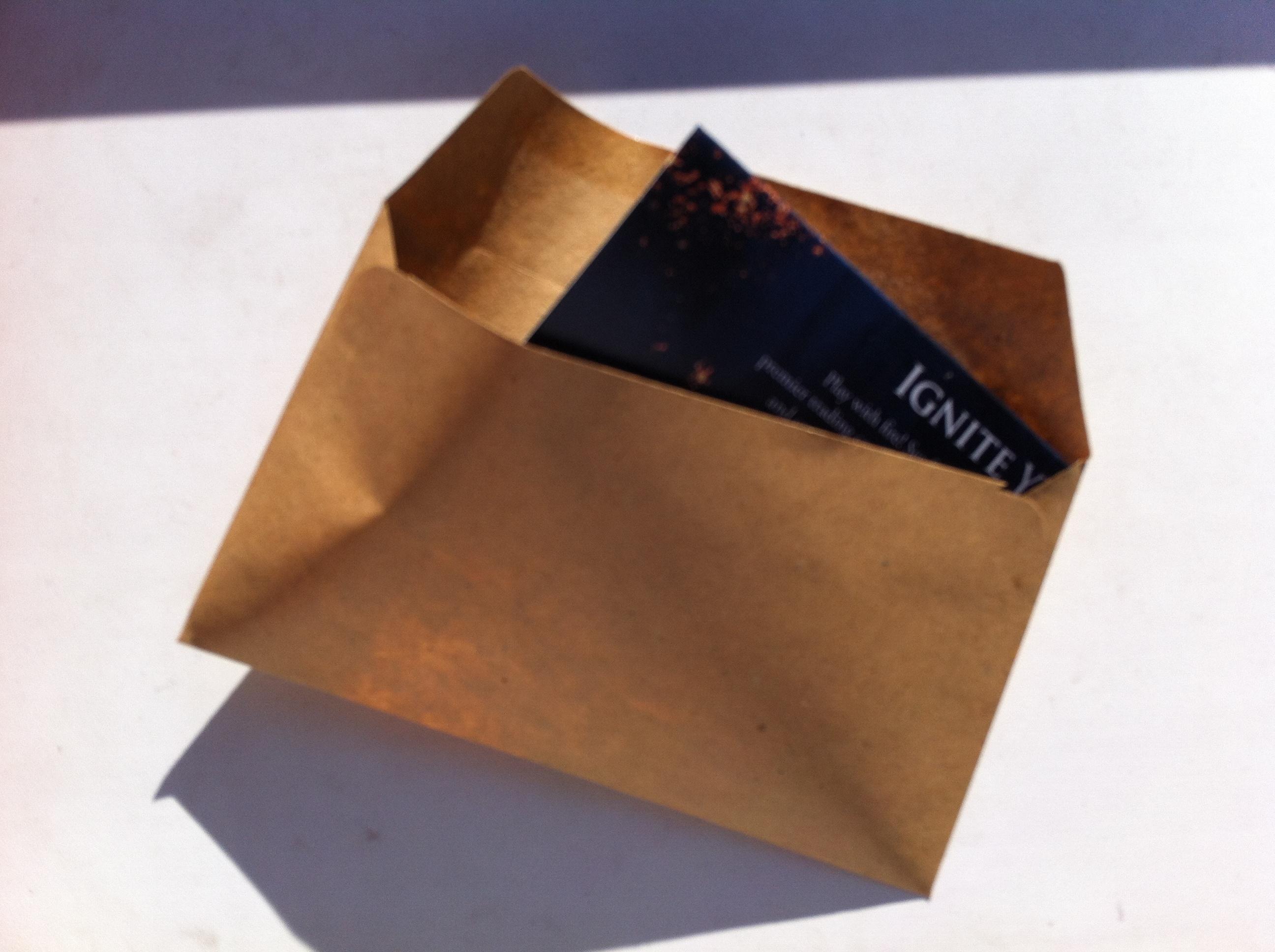 Krok č. 5 - Vložit do obálky č. 1